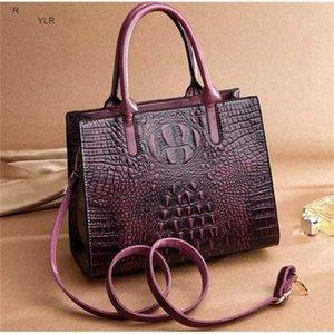 Fashion Women totes Medium handbags with zipper Embossed crocodile grain pu good quality cheap bags