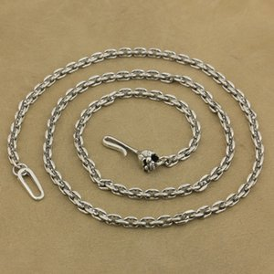 Sterling Clasp 4mm TA35 LINSION 925 Necklace Charms Skull Hook Square Chain Silver Link Tsokb