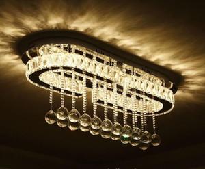 Lampatria a soffitto a soffitto a LED Sala da pranzo di lusso Silver Pleacing Light Living Room Lamp Lampade da soffitto Led camera da letto Crystal Fixture Cucina