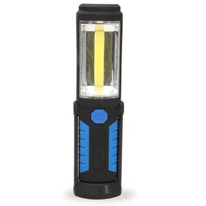 LED-Fackel-Arbeitsständer-Licht-COB-Lampen Magnetische Batterie Powered Haken im Freien Camping Sportnutzung