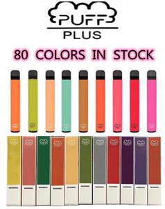 Puff Bar Plus 80 цветных одноразовых Vape Pen Device 450 мАч Батарея 500 пухов 3,2 млн. POD префили XXL Двойная палочка Bang XXL Air Bar Lux