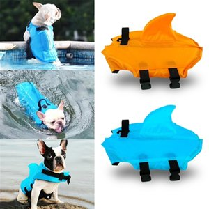 Vest Summer Dog Clothes Swimwear Pets Swimming Suit Shark Pet Life Jacket For Dogs Y200917