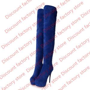 جديد حار فافوفانس إمرأة أحذية فو الجلد المدبوغ خنجر كعب البريدي جولة تو عبر الركبة أحذية عالية FF-B616 الولايات المتحدة المملكة المتحدة EUR حجم مخصص