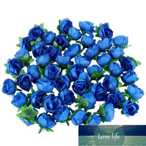 Decorative Flowers & Wreaths 50 Artificial Roses, 3 Cm Tall, Wedding Decoration, Navy Blue1 Factory price expert design Quality Latest Style Original Status