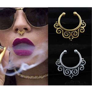 Wind clip false Indian belly dance jewelry non perforated nose ring