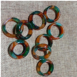 17-18mm natural tri color chalcedony ring free delivery