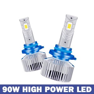 Car Headlights Bulbs Led H4 With Silent Fan Mini Size High Low Focus Beam CSP Chips 6000k Brightness 30000lm Auto Lamps
