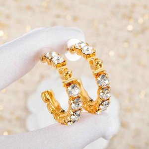 2021 Hot sale New arrival small Hook drop earring with diamond for women wedding jewelry gift in 18k gold plated free shipping PS4035
