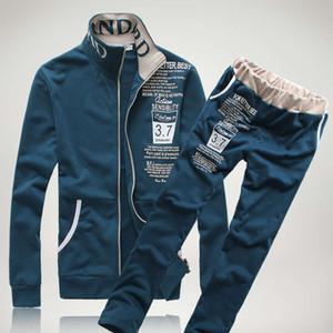 Basit sonbahar ve kış yeni erkek kazak takım elbise moda marka eğlence takım elbise erkek online alışveriş