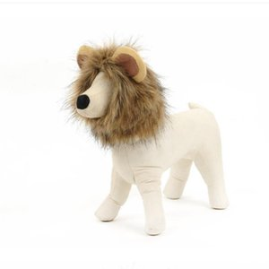 Costume Pet Wig Lion Wigs Headgear with Ear Cap Hat Hair Cosplay Party Accessories for Cat Dog Adjustable for Small Medium Large