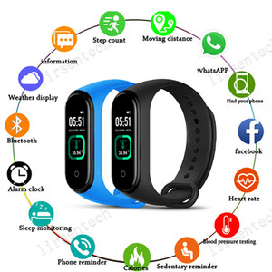 M4 Pro Smart Watch Band Fitness Armband Sport Körpertemperatur Referenz Armband Herzfrequenzmonitor Tracker für ios Andriod Free Ship
