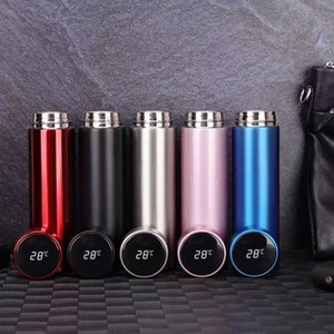 Gift tea cup water bottle fashion business stainless steel temperature control intelligent insulation