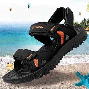 REETENE Men'S Sandals Big Size 39-48 Leather Sandals For Men Outdoor Walking Men'S Summer Sandals Comfortable Men Shoes 210615