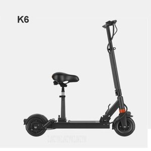 K6 500W Powerful Two-wheel Smart Foldable Electric Scooter Kick Scooter Bicycle With Seat Electric Skateboard Mileage 70-90km