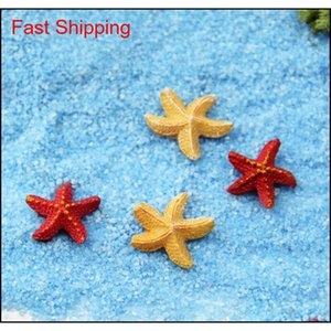 10 Pcs Bonsai Figurine Fairy Garden Decoration Starfish Miniatures Micro Landscapes Resin Crafts Garden Te qyleEf sports2010