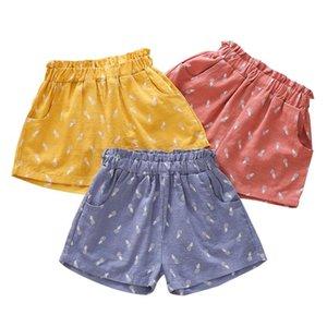 Summer girls pantalones cortos pantalones cortos casuales pantalones cortos de algodón bebé fruta de verano impreso playa pantalón pantalón para niños Color de los niños