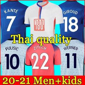 20 21 Chelsea Fußballtrikot HAVERTZ WERNER chelsea fc soccer jersey 2020 2021 PULISIC CHILWELL ZIYECH ABRAHAM MOUNT KANTÉ LAMPARD football shirt