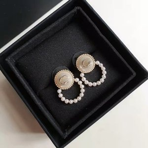 Fashion designers Stud women's pearl Earrings Classic letter Jewelry Accessories High quality fashions Gift for Girls