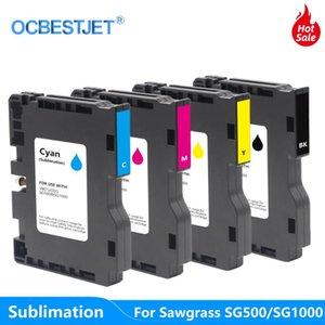 4 Cartucho de tinta de sublimación de color para Ricoh Sawgrass SG500 SG1000 Impresora de inyección de tinta Transferencia de calor Tinta de prensa caliente para la máscara de camiseta