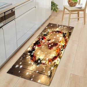 Carpets Kitchen Carpet Doormat Entrance Home Bath Mat For Floor Christmas Decorations Living Room Antiskid Washable Hallway Rugs