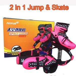 2 in 1 Skate- und Känguru-Jump-Schuhe Fitness-Übung 30-50kg (66LB-110LB) Space Bouncing Schuhe Jump und Skate