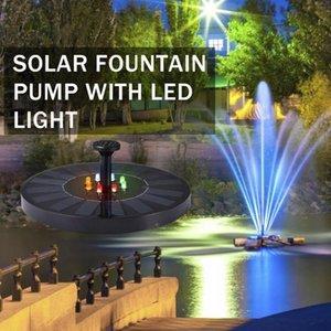LED Solar Fountain Pump 2.4W 10V Floating Solar Powered Water Fountain Pump For Birdbath Backyard Pond Pool Garden Decor