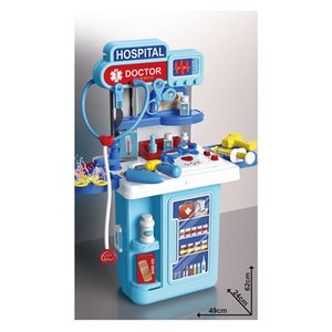 Plastic Mobiled 4 in 1 Toy Doctor Set Equipment Kit Tools Toys Pretend Play Trolley Case Hospital For Kids