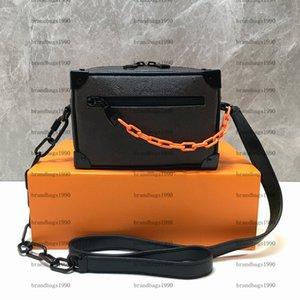 Bolsa de hombro Flor Bolsa de caja Simétrica Bolsa de cuero genuino Lona suave Mini Bucket Fouch Mujeres Bolsos de moda Cruz Bolso del cuerpo
