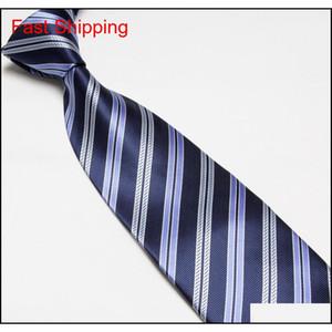 Mens Imitated Silk Necktie Imitated 100% Silk Stripe Tie Plain Jacqua qylefd bdehome