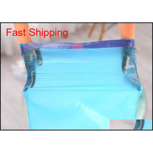 Disposable Garbage Bags Plastic Drawstring Garbage Bag Matic Closing Plastic Bag Home Hotel Kitchen Storage Handba jllYTI mywjqq