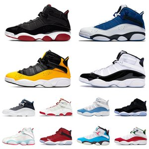 2021 JUMPMAN 6 Ring Team Royal Men Women Basketball Shoes 6s VI White University Red Space Jam Metallic Gold Trainers Sports Sneakers 36-47