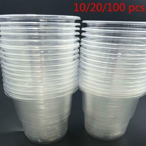 Disposable Cups & Straws 10 20 100 Pcs Plastic Clear Outdoor Picnic Tasting Cup Birthday Kitchen Party Tableware.