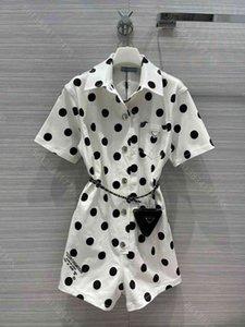 2021ss Moda Tulumlar Kadınlar Seksi Tulum Polka Tulum Elbise Grils Hediye Üçgen Paketi Yüksek Kaliteli Bayan Giysileri Desinger DHL Albümü