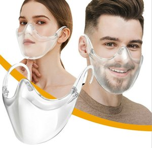 Fast Delivery Durable Cycling Mask Face Shield Combine Plastic Reusable Transparent Clear Face Shiled Mask Bandage Unisex Face Shield Mask