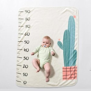 7 Styles Printed Baby Milestone Blanket Eco-friendly 150X120cm Flannel Blankets Travel Home Air Conditioning Blanket SEA shipping AHC6361
