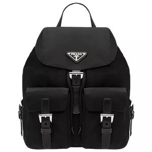PRADA Brand Backpack P for men women made from nylon and leather top quality luxury shoulder bags