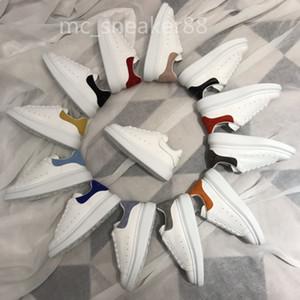 McQueen 2021 المصمم الكلاسيكي أفضل بائع ألوان الرياضة المتضخم إسبادريل منصة عالية الرجال النساء أحذية جلد الغزال المخملية الحجم 36-44