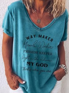 Way Maker Promise Keeper Light In The Darkness My God Christian Print Women Harajuku Aesthetic T Shirt Female Tops Graphic Tees