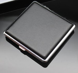 New Fashion 20pcs Metal Cigarette Case Clip Personality Automatic Cigarette Holder Box Black And Checked Smoking Container Hot Sale SN3712