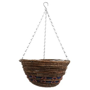 Planters & Pots 1Pc Willow Woven Wall-mounted Flower Basket Home Natural Round-shaped