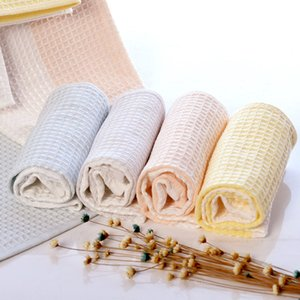 Source Factory Deux-Couleurs Waffle Bamboo Fibre de coton Absorption d'eau Soft Softel