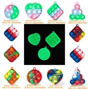 push Key Chain Finger Pioneer Fidget Toys rainbow children's mental arithmetic desktop decompression puzzle toy G58YH9Q