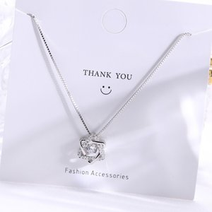 Wanying Six Star Pendant S925 Sterling Silver Necklace Women's Heart Beating Jewelry Personality Creativity A178 800R
