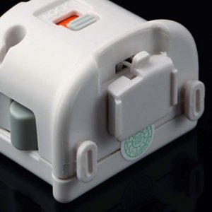 MotionPlus Motion Plus Adapter Sensor accelerator for Nintendo Wii Console Remote Wireless Wiimote Controller nunchuk Enhanced Black & White