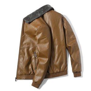 Мужские меховые из искусственных плюшевых воротничков пальто и куртка Мужская винтажная бомбардировщик толщиной мода Winebreak Caird мужская одежда зимняя кожа