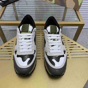 Vente chaude Fashion Casual Shoes Calfskin Suede Vintage Mens Femmes Augmentez les chaussures de plateforme à lacets imprimés avec boîte à poussière