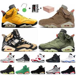 Nike Air Jordan Retro 6 6s Travis Scott Jumpman Stock x Avec boîte Chaussures de basket pour hommes 2021 carmin Black Infrared Rabbit Gatorade Chaussures de sport pour hommes