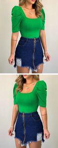 Cuff Womens Pure 2020 Luxury Color Designer Clothes Plaid Border Design Women Designer T Shirts Short Sleeves