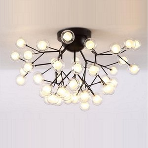 Modern Led Ceiling Chandeliers Lighting Tree Branch Mount Kids Lamps Ball Glass Shades Lights For Living Room