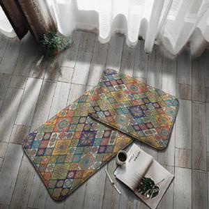 Carpets Bohemian Doormat Ethnic Flower Kitchen Bathroom Mat Bedroom Carpet Floor Area Rug 3D Print Indoor Outdoor Doorway